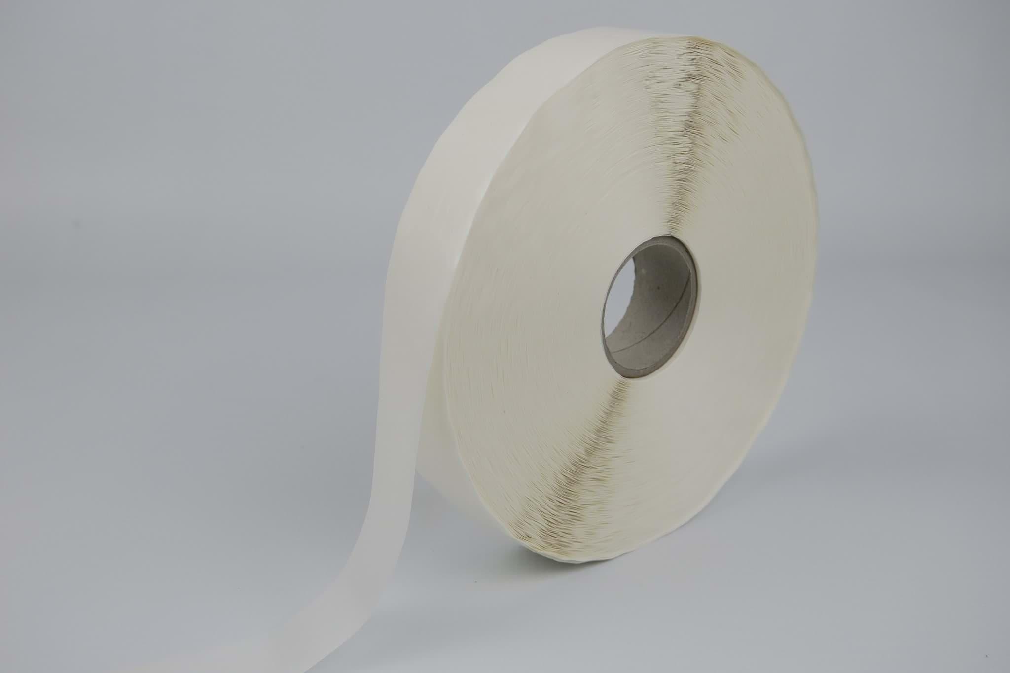rund Verschlussetiketten auf Rolle transparent permanent klebend